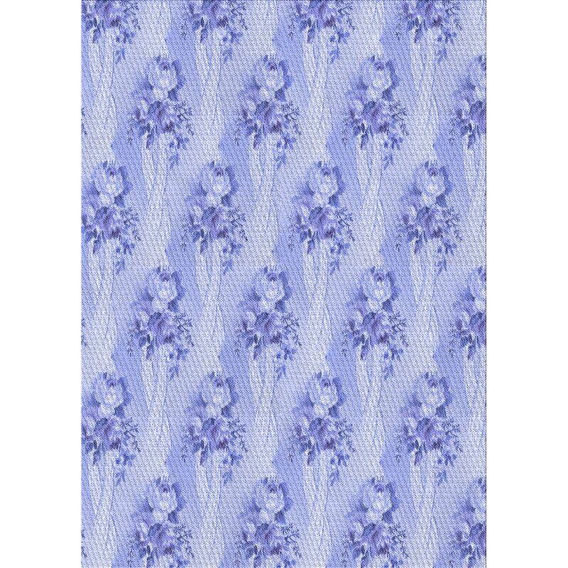 East Urban Home Ber Floral Wool Blue Area Rug Wayfair