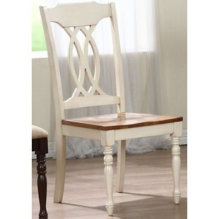 Transitional Solid Wood Dining Chair (Set of 2) Iconic Furniture