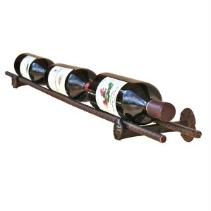 Horsetail Railroad Spike 3 Bottle Tabletop Wine Rack by Loon Peak