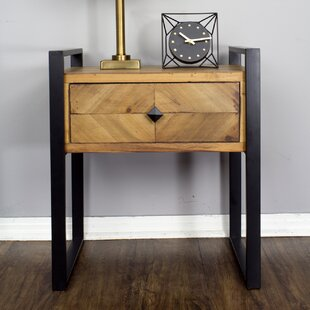 Online Reviews Delphine 1-Drawer End Table By 17 Stories