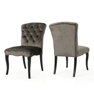 Rosdorf Park Binning Armless Upholstered Dining Chair (Set of 2)