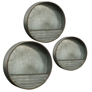 Circular Galvanized Accent Shelf (Set of 3)