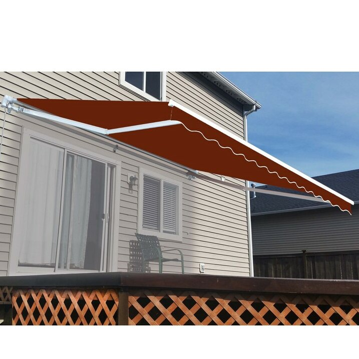 ALEKO 12 ft. W x 8 ft. D Retractable Patio Awning ...