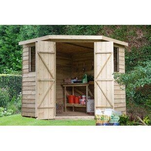 7Ft. W X 7Ft. D Overlap Pent Wooden Shed By WFX Utility