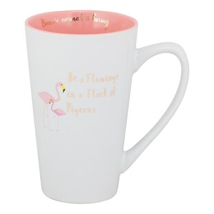 Calton Flamingo in a Flock of Pigeons Coffee Mug