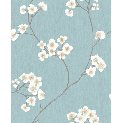 Ophelia & Co. Judith Gap 33' x 20 Radiance Wallpaper Roll Color: Blue/Cream
