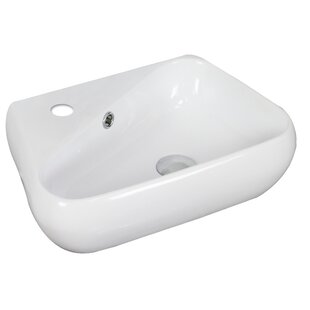 Find a Ceramic 18 Wall Mount Bathroom Sink with Overflow By American Imaginations