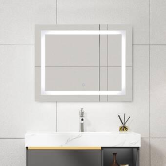 Orren Ellis Keziah Led Backlit Bathroom Vanity Mirror Wayfair