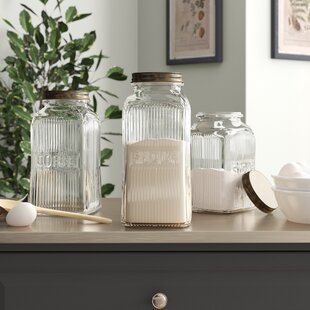 Pauline 3 Piece Kitchen Canister Set