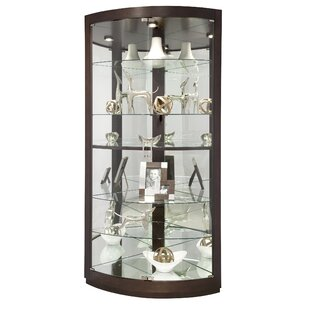 Westendorf Lighted Corner Curio Cabinet by Red Barrel Studio