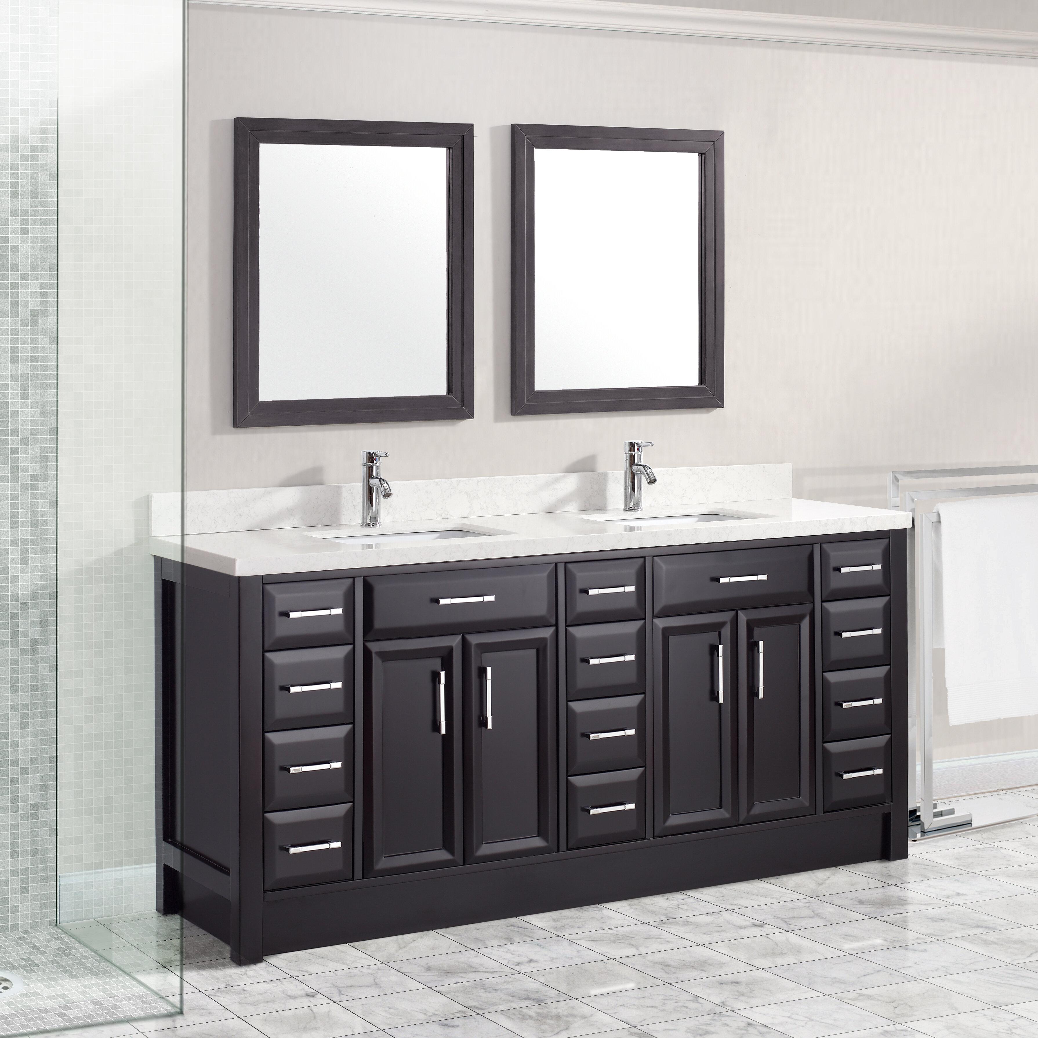 Brayden Studio Waverly 75 Double Bathroom Vanity Set Wayfair