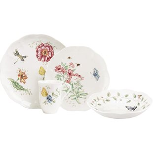 Butterfly Meadow 4 Piece Place Setting Service for 1  sc 1 st  Wayfair & Dragonfly Dinnerware | Wayfair
