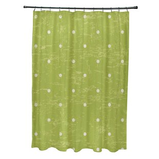 Bay Isle Home Pembrook Polyester Dorothy Dot Geometric Shower Curtain