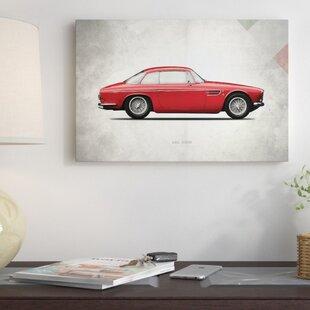 'Vintage Italia Series: 1956 Maserati A6G 2000' Vintage Advertisement on Canvas By East Urban Home