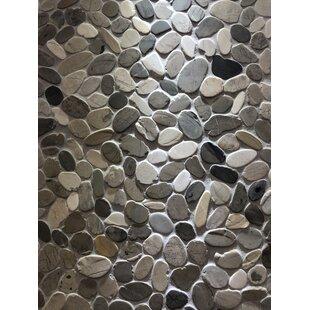 Quartz Random Sized Natural Stone Mosaic Tile in Black/Gray