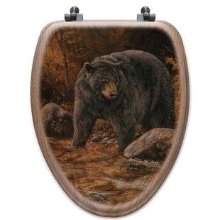WGI-GALLERY Streamside Bear Oak Elongated Toilet Seat