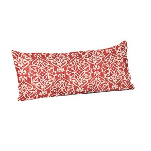 Hajar Gondola Lattice Salmon Outdoor Lumbar Pillow
