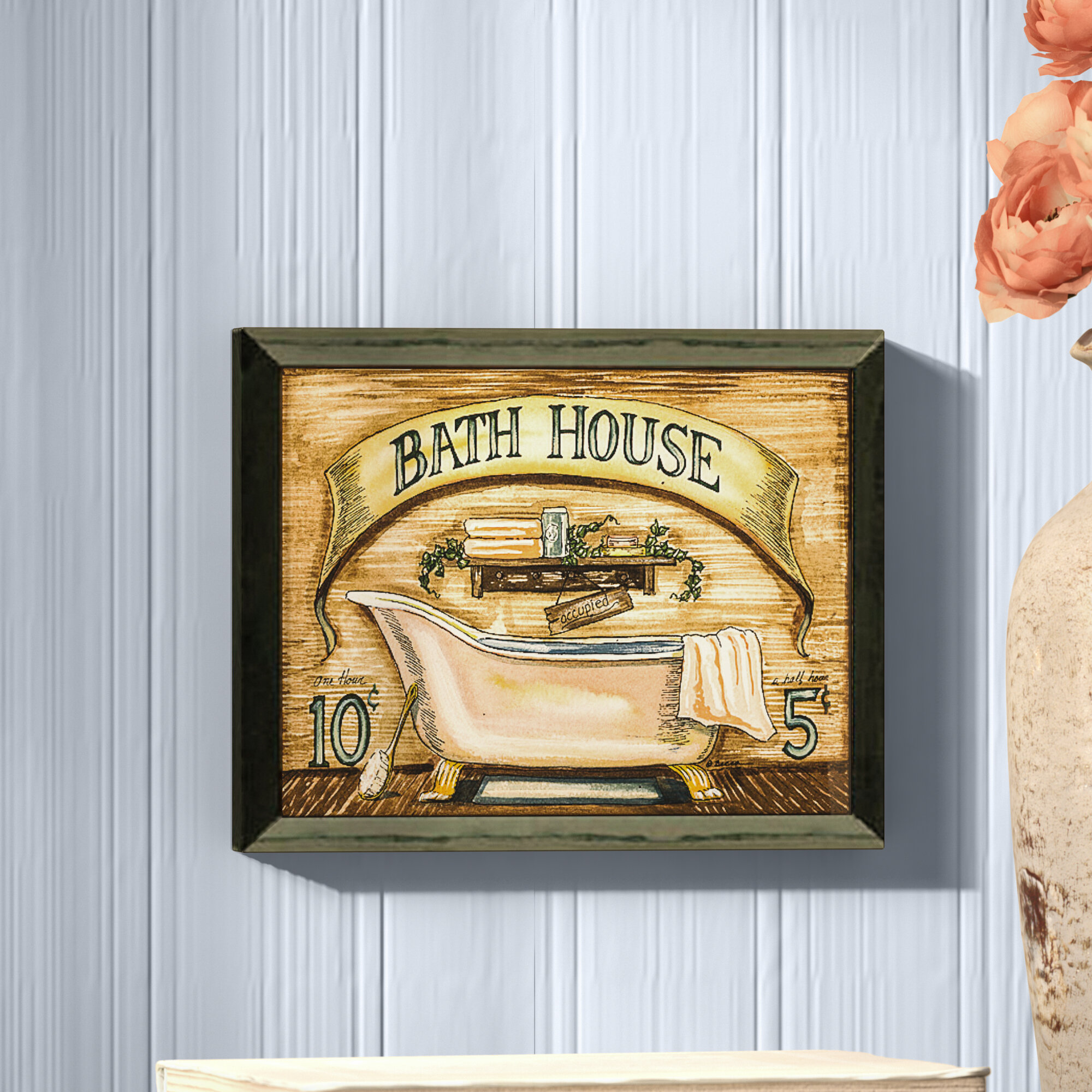 August Grove \'Bath House\' Framed Graphic Art Print on Paper ...