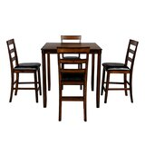 Harrsion 5 - Piece Counter Height Dining Set by Red Barrel Studio®