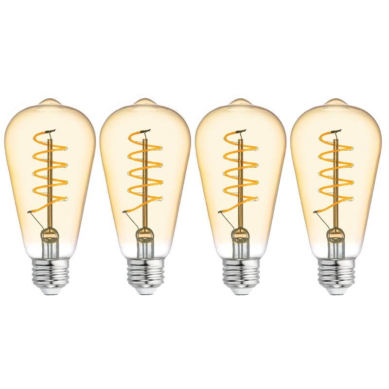 Ge Lighting 5 Watt 60 Watt Equivalent St19 Led Dimmable Light Bulb 2000k E26 Medium Standard Base Reviews Wayfair