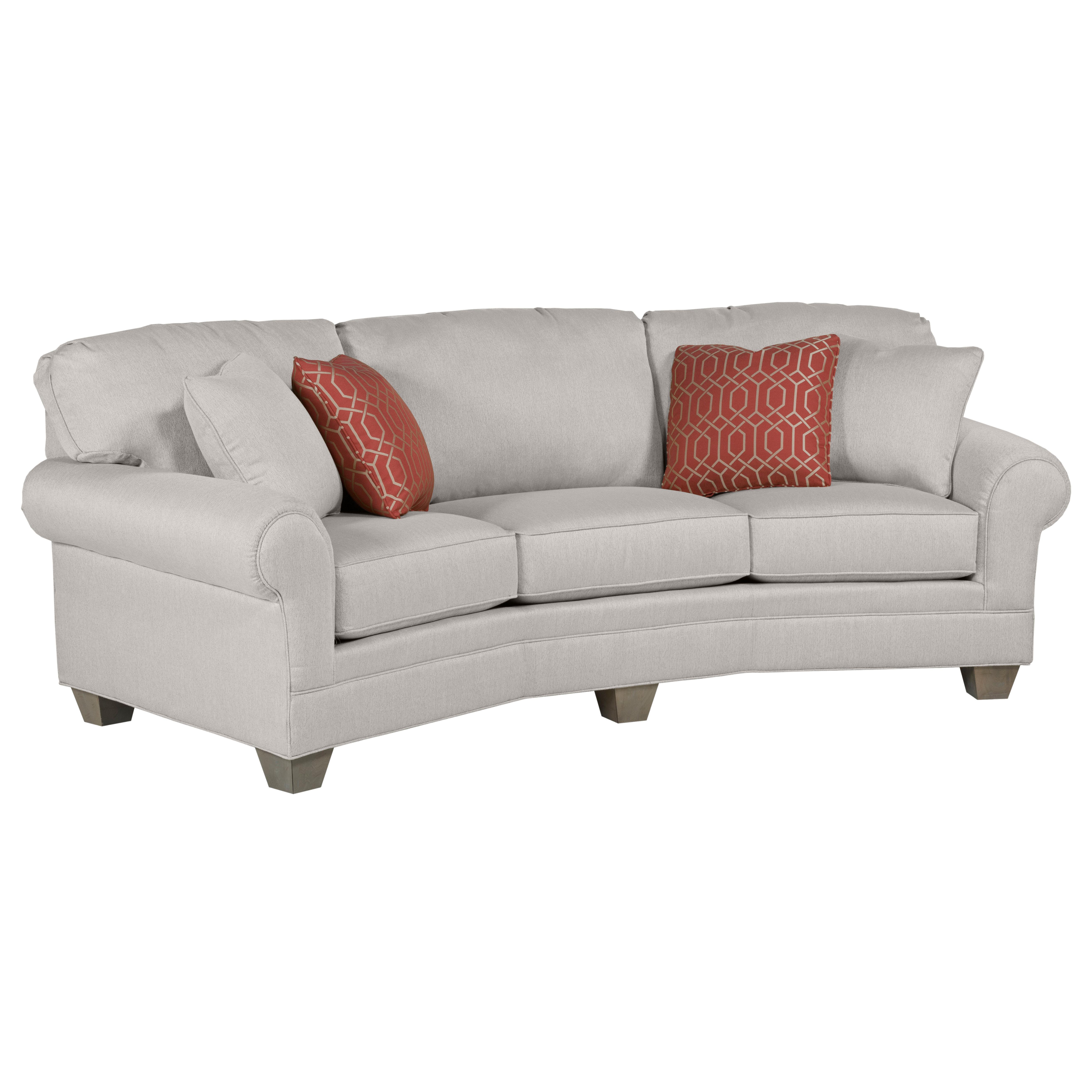 Fairfield Chair Ayden Leather Curved