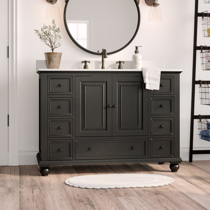 "Gracie Oaks Samoset 48"" Bathroom Vanity Base Only ..."