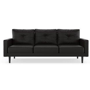 Schiavo Vegan Leather Sofa Orren Ellis