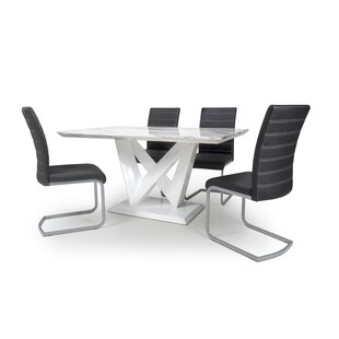 Aukerman Dining Set With 4 Chairs By Wade Logan