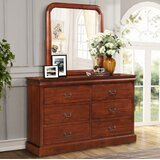 Gaspar 4 Drawer Double Dresser  with Mirror by Alcott Hill®