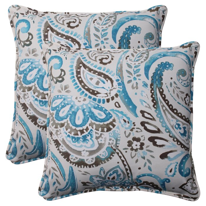 Stupendous Paisley Corded Indoor Outdoor Throw Pillow Ocoug Best Dining Table And Chair Ideas Images Ocougorg