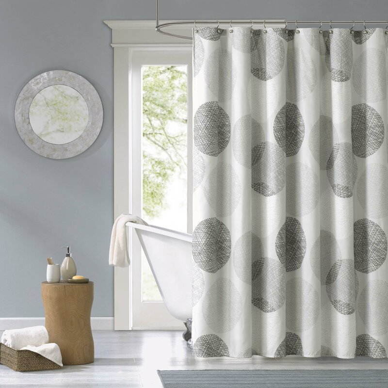 Zipcode Design Burgess Microfiber Shower Curtain & Reviews | Wayfair