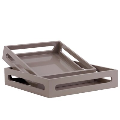 Turn on the Brights Westwick 2 Piece Square Serving Tray Set