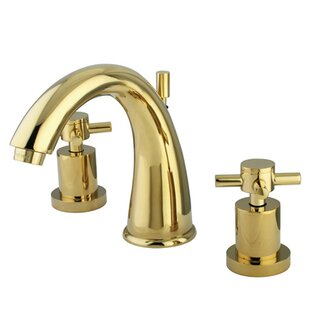 Kingston Brass Concord Widespread Bathroom Faucet with Brass Pop-Up Drain