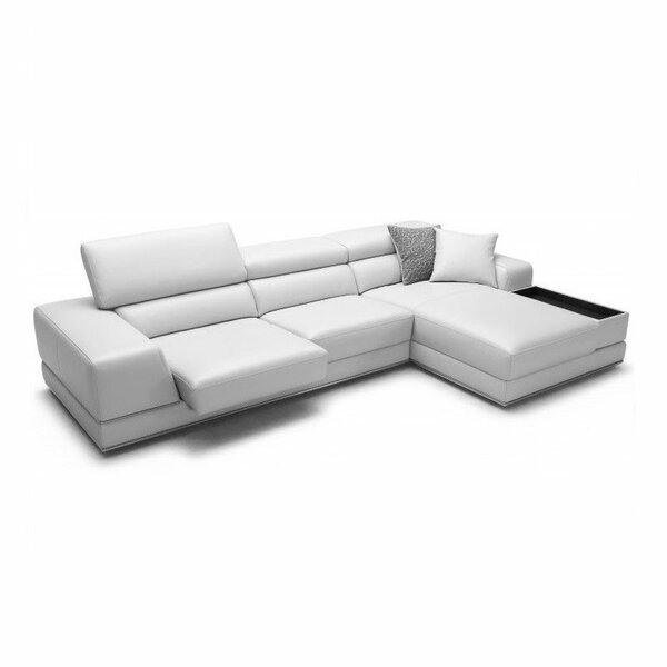 Leather Sectional Sofas You Ll Love Wayfair