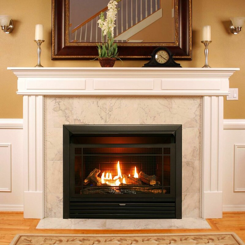 Charlton Home Hardwick Vent Free Recessed Natural Gas Propane