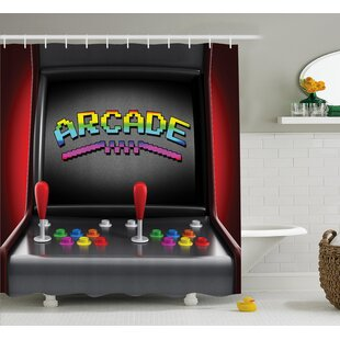 Video Games Arcade Retro Fun Shower Curtain