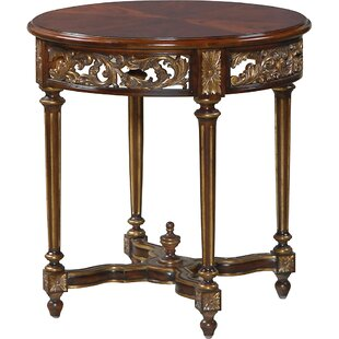 Gilded Accents End Table