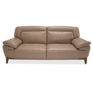 Mia Bella Turano Leather Sofa by Michael Amini