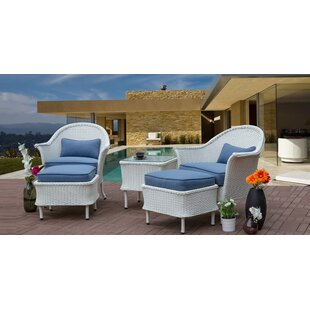 Groves Wicker 5 Piece Rattan Seating Group