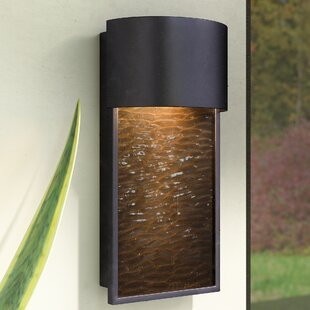Best Review Borchers 1-Light Outdoor Sconce By Zipcode Design