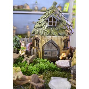 fairy statues for garden. Fairy Leaf Roof Garden House Statues For T