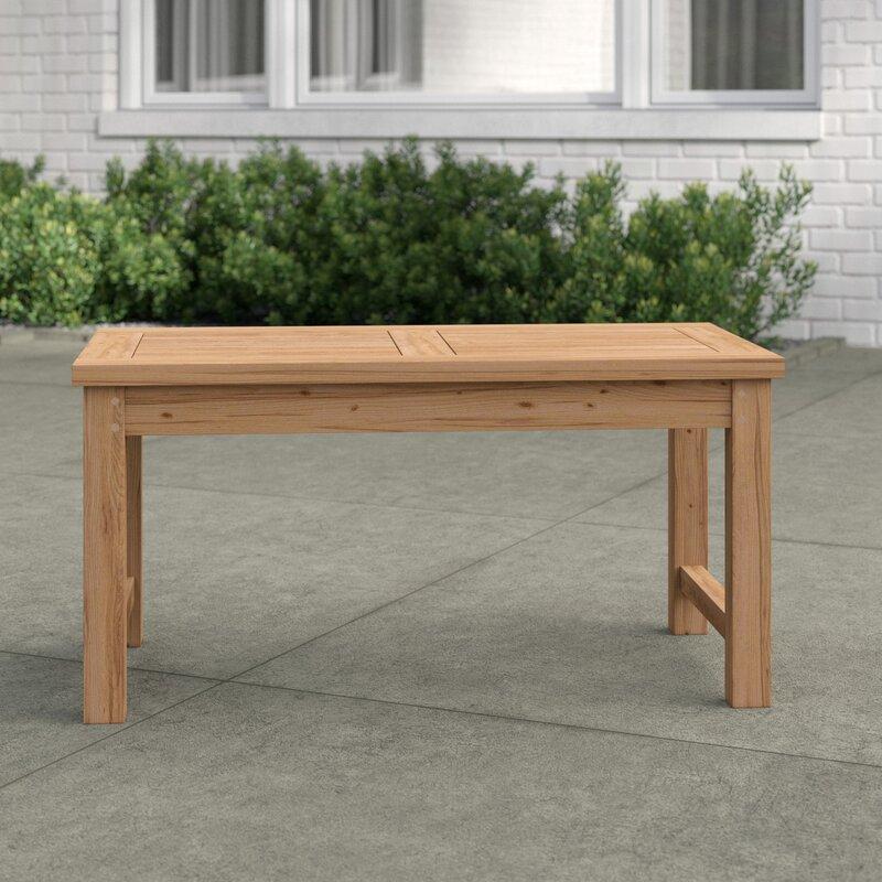 Sol 72 Outdoor Work Teak Coffee Table & Reviews | Wayfair ...