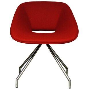 B&T Design Red Swivel Side Chair