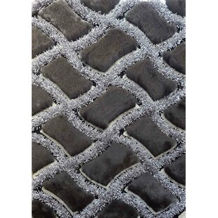 Compare prices Shaggy Viscose Design Black Area Rug By Rug Factory Plus