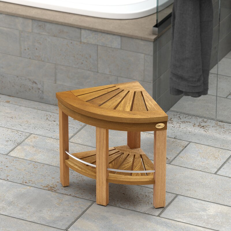 Gatco Teak Fully Assembled Corner Shower Seat & Reviews | Wayfair