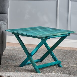 Schanya Wood Foldable End Table by Highland Dunes