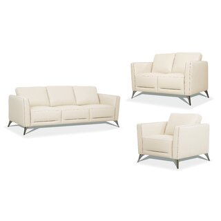 Akinruntan 3 Piece Living Room Set by Orren Ellis SKU:AC247181 Price Compare