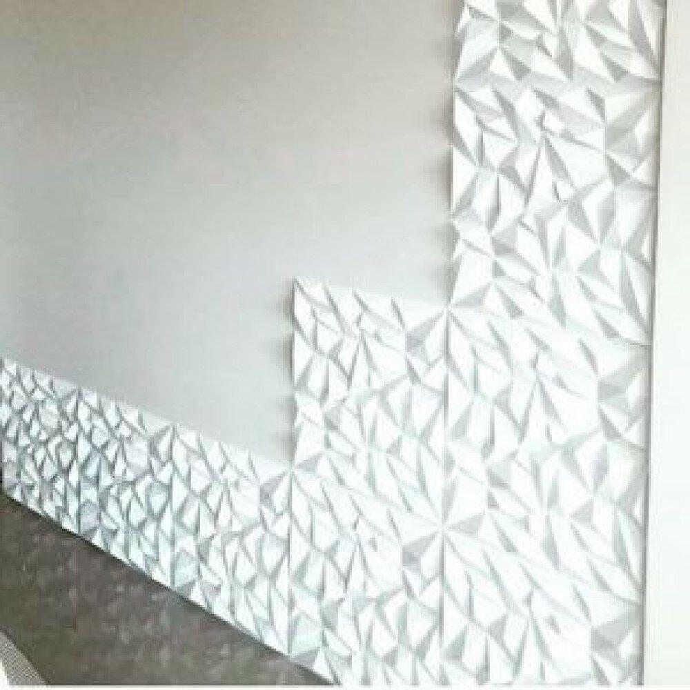 Orren Ellis Thaxted 19 7 X 19 7 Vinyl Wall Paneling In White Wayfair