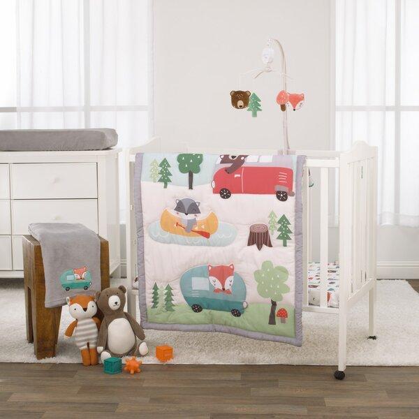 m Baby Nursery Cot Bedding Bumper fabric cream polka dots bunny doll cat print