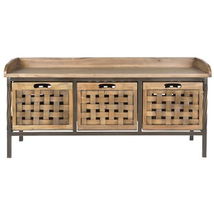 Isabella Wood Storage Bench By August Grove